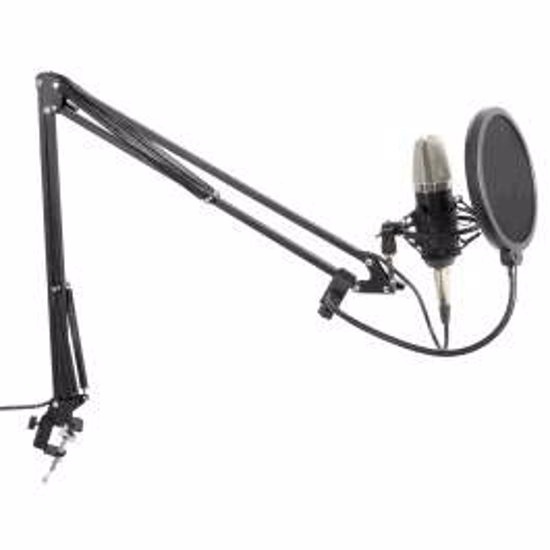 Vonyx Studio Set CMS400 Condensor Microphone with Stand and Pop Filter