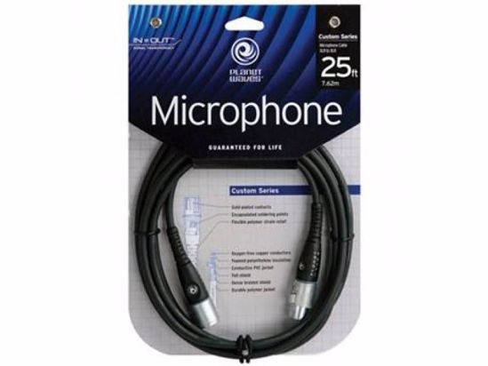 KABEL PLANET WAVES MIKROFONSKI 7,6M CUSTOM SERIJA PW-M-25