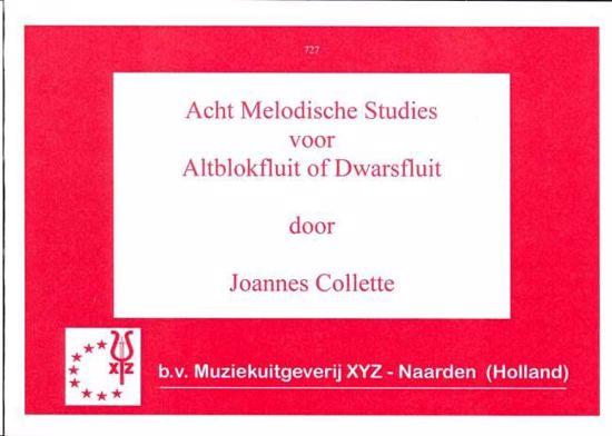 COLLETTE:8 MELODISCHE STUDIES ALTBLOKFLUTE