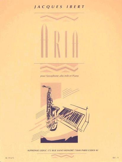 IBERT:ARIA POUR SAX ALT ET PIANO