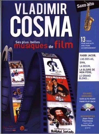 COSMA:SES PLUS BELLES MUSIQUES DE FILM ALTO SAX +CD