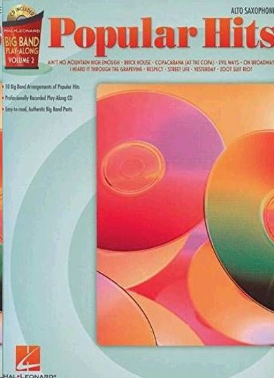 POPULAR HITS PLAY ALONG BIG BAND ALTO SAX+CD