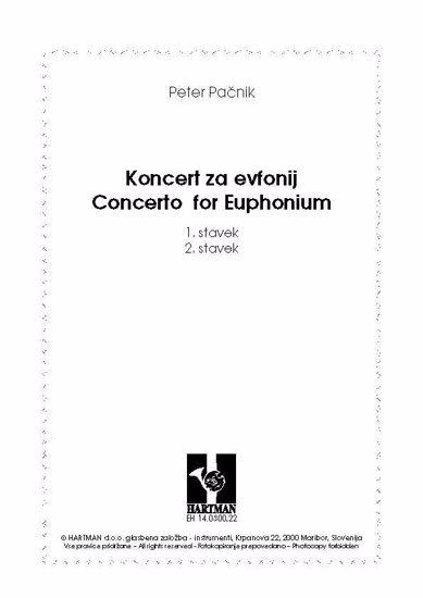 Pačnik Peter: Koncert za evfonij