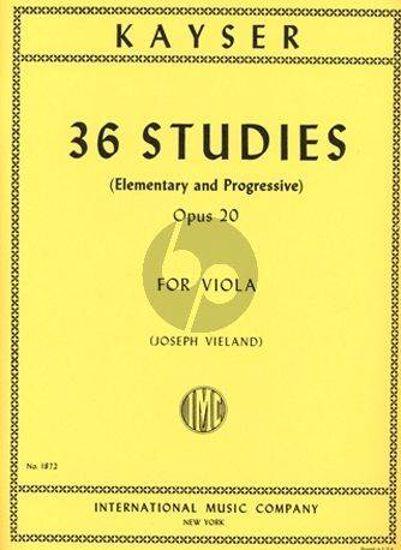 KAYSER:36 STUDIES OP.20 VIOLA