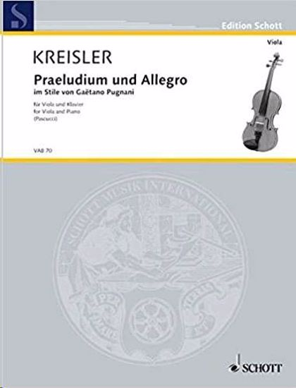 KREISLER:PRAELUDIUM UND ALLEGRO VIOLA AND PIANO