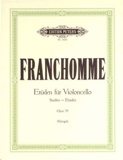 FRANCHOMME:ETUDEN OP.35 CELLO