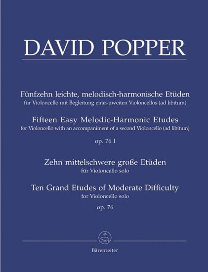 POPPER:15 EASY MELODIC HARMONIC ETUDES OP.76