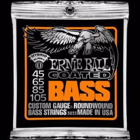 ERNIE BALL strune za bas kitaro SET 3833 BASS COATED HYBRID 045-105