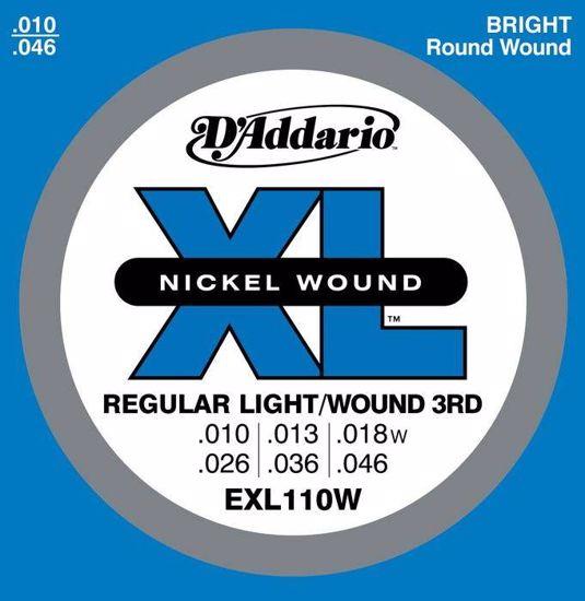 DAddario strune za električno kitaro EXL110W 10-46  Wound 3rd