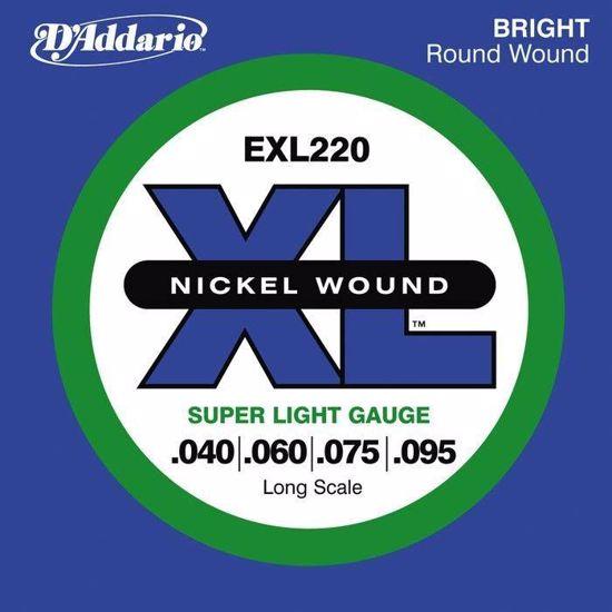 Strune D'Addario kitara bas EXL220  40-95
