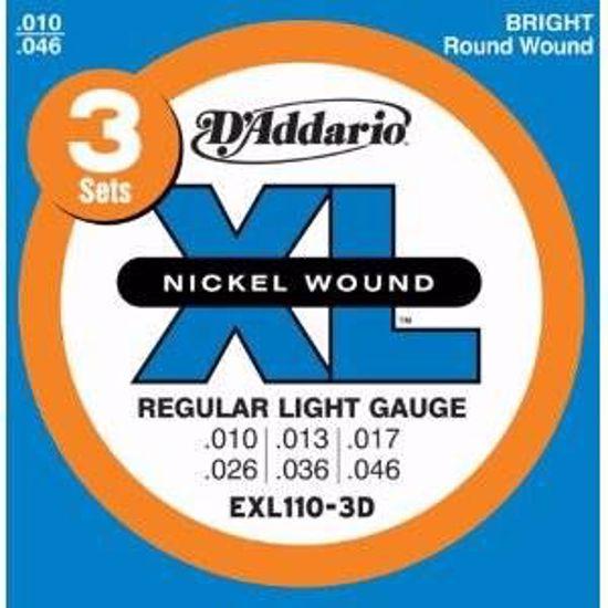 DAddario strune za električno kitaro EXL110-3D 10-46 3 pack