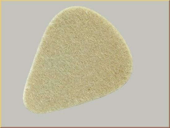 DRSALICA 3.2 mm thick felt pick for a soft ukulele sound