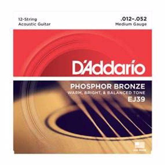 DAddario strune za akustično kitaro EJ39 12 strun 12-52