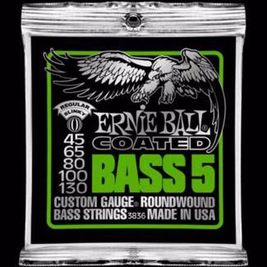 ERNIE BALL strune za bas kitaro SET 3836 BASS COATED 5 STRUN 045-130