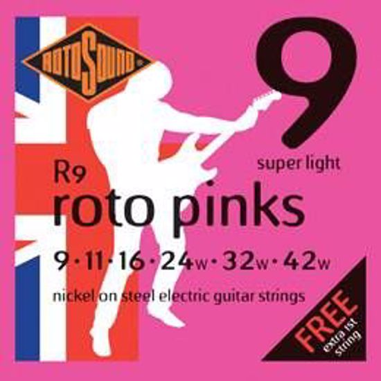 ROTOSOUND SET STRUN R9 PINK 009-042