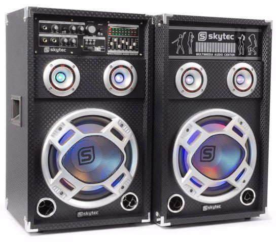SKYTEC KARAOKE AKTIVNI ZVOČNIK KA-12 SET SD/USB/MP3/LED 1200W 178.412