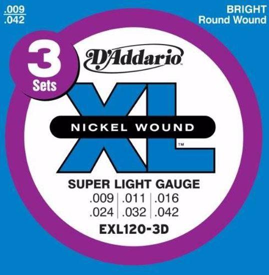 Strune D'Addario el.kitara EXL120-3D  9-42