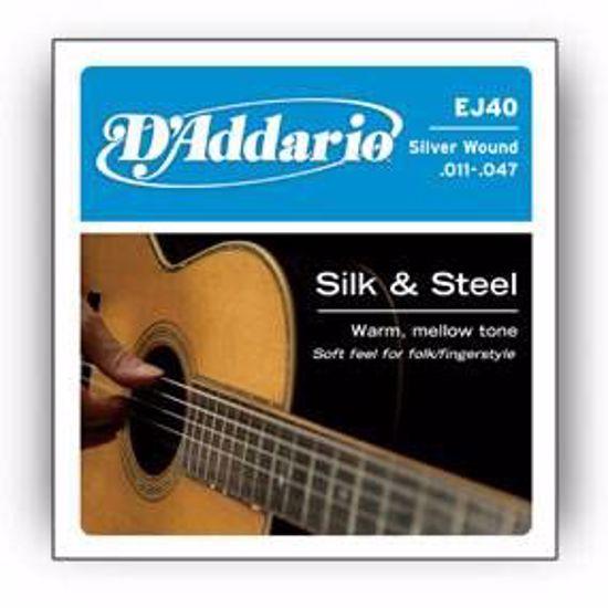 DAddario strune za akustično kitaro EJ40 11-47 Silk&Steel