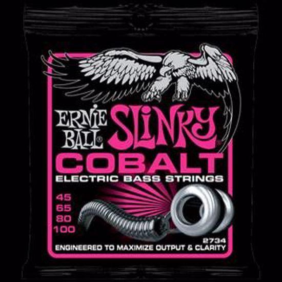 ERNIE BALL strune za bas kitaro SET 2734 COBALT BASS SUPER SLINKY 045-100
