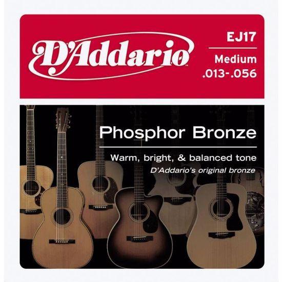 DAddario strune za akustično kitaro EJ17 ph.bronze 13-56