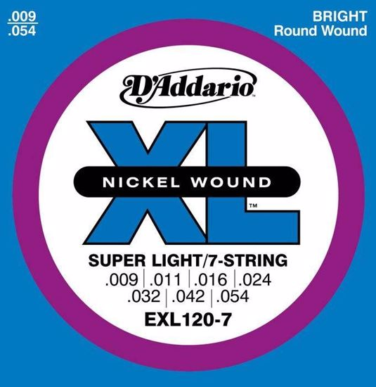 Strune D'Addario el.kitara EXL120-7   9-54
