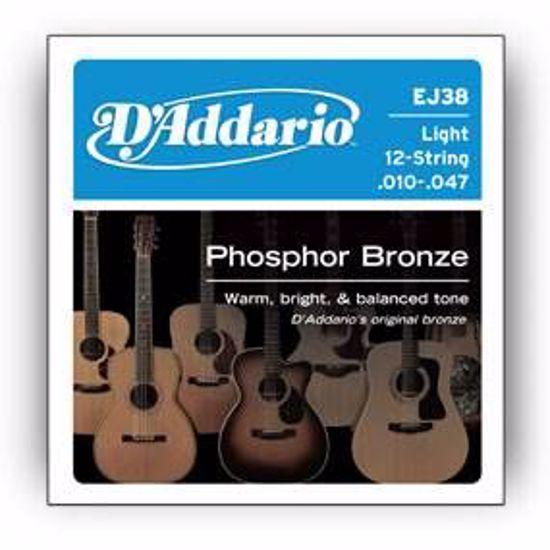 DAddario strune za akustično kitaro EJ38 12 strun 10-47