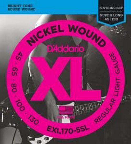 Strune D'Addario kitara bas EXL170-5SL  45-130