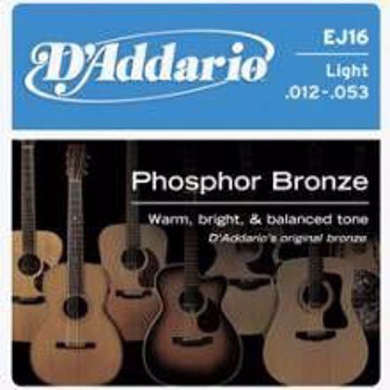 DAddario strune za akustično kitaro EJ16 ph.bronze 12-53