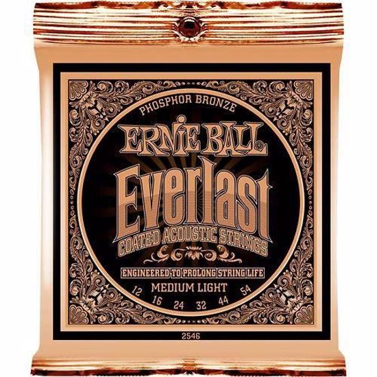 ERNIE BALL SET 2546 AK 012-054 EVERLAST COATED PHOSPOR BRONZE MEDIUM LIGHT