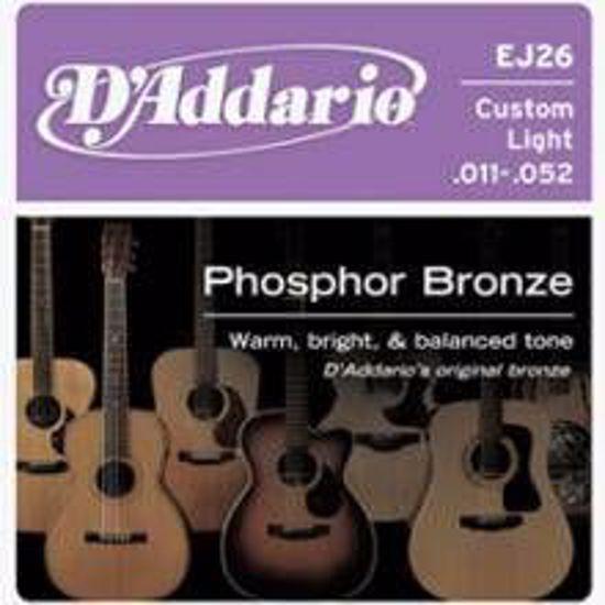 DAddario strune za akustično kitaro EJ26 ph.bronze 11-52