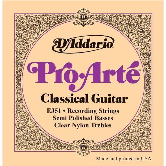 Strune D'Addario Pro Arte klas. kitara EJ51 Semi Flat Hart