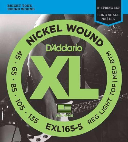 DAddario strune za bas kitaro EXL165-5  45-135