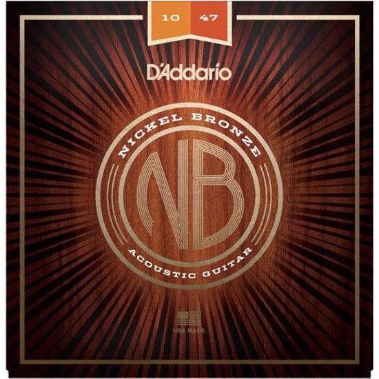 DAddario strune za akustično kitaro NB1047 Nickel Bronze 10-47