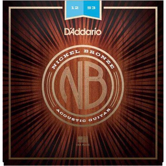 Strune D'Addario ak. kitara NB1253 Nickel Bronze 12-53