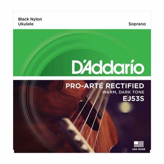 DAddario strune za  sopran ukulele EJ53S black nylon