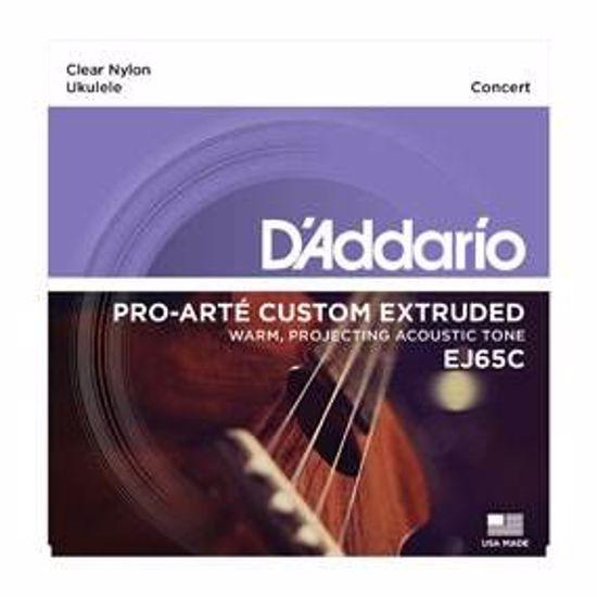 DAddario strune za concert ukulele EJ65C clear nylon
