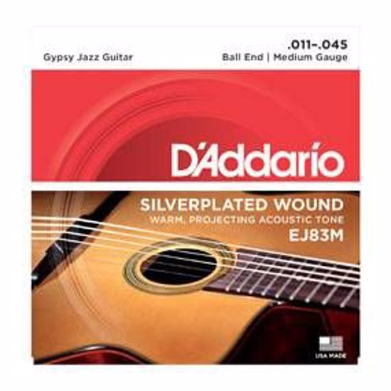 Strune D'Addario ak. kitara EJ83M Gypsy Jazz, Ball End, Medium, 11-45