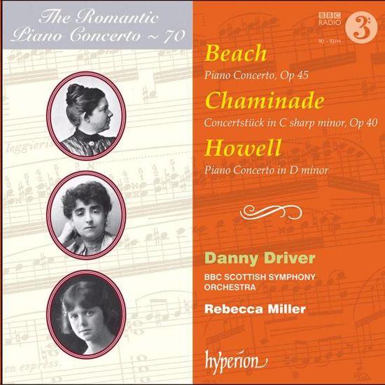 BEACH,CHAMINADE,HOWELL:PIANO CONCERTOS/MILLER