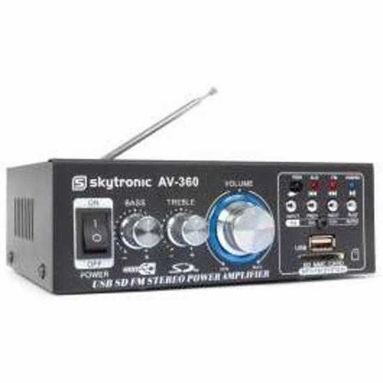 SKYTRONIC KARAOKE ojačevalec FM/USB/SD AV-360
