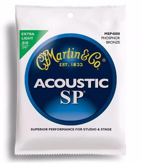Martin MSP4000 Phos Bronze Acoustic Guitar Strune Extra Light 010-047