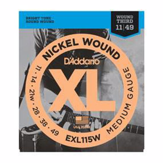 Strune D'addario e. kitara EXL115W Nickel Wound, Medium/Blues-Jazz Rock