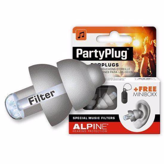 Čepki za ušesa Alpine PartyPlug silver grey