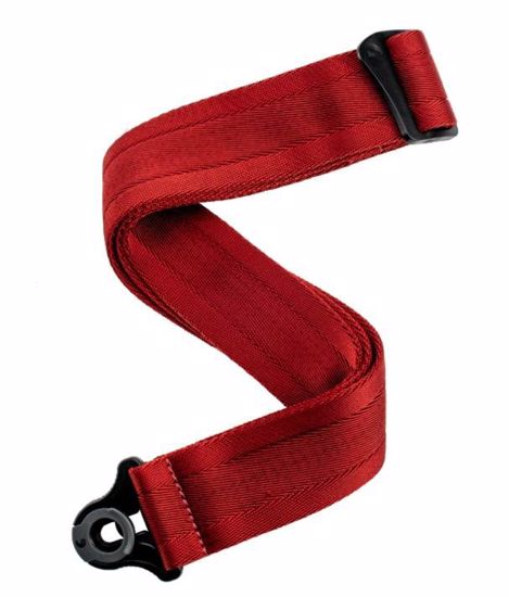 PAS ZA KITARO PLANET WAVES Auto Lock Guitar Strap Blood red