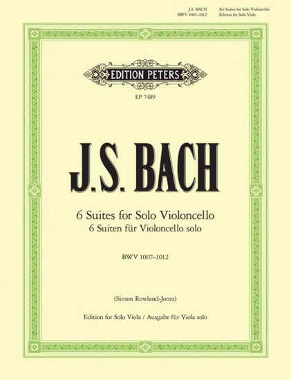 BACH J.S: 6 SUITES FOR CELLO EDITION FOR VIOLA SOLO (ROWLAND-JONES)
