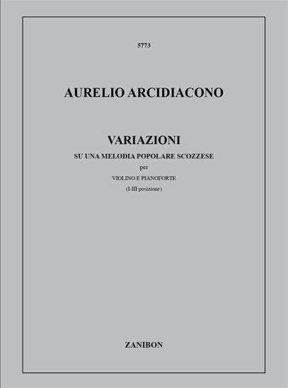 ARCIDIACONO: VARIAZIONI SU UNA MELODIA POPOLARE VIOLIN AND PIANO