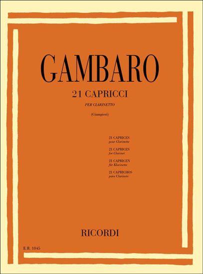 GAMBARO:21 CAPRICCI PER CLARINETTO
