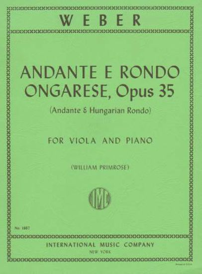 WEBER:ANDANTE E RONDO ONGARESE OP.35 VIOLA