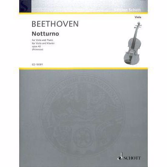 BEETHOVEN:NOTTURNO OP.42 VIOLA AND PIANO