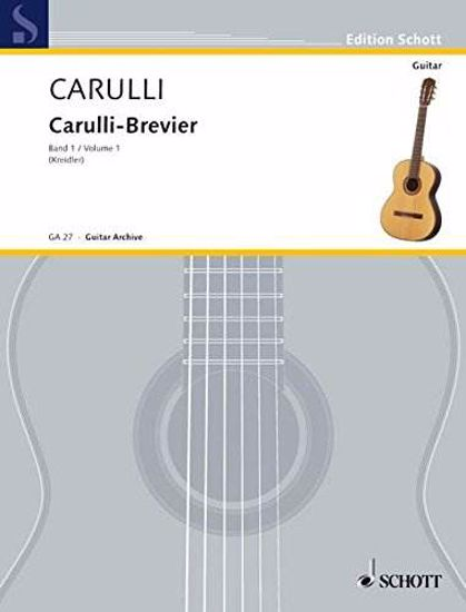 CARULLI:CARULLI-BREVIER VOL.1 (KREIDLER) GUITAR