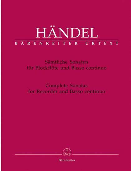 HANDEL:COM.SONATEN BLOCKL.+BASSO CON